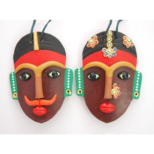 Buy Decorative Masks Online India Wall Hanging Terracotta Mask  Claywork  Pinterest  Terracotta