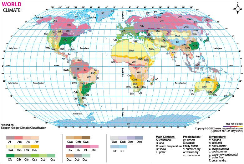 World climate mapthis map has used the koppen gieger climactic buy world climate map from online map store gumiabroncs Choice Image