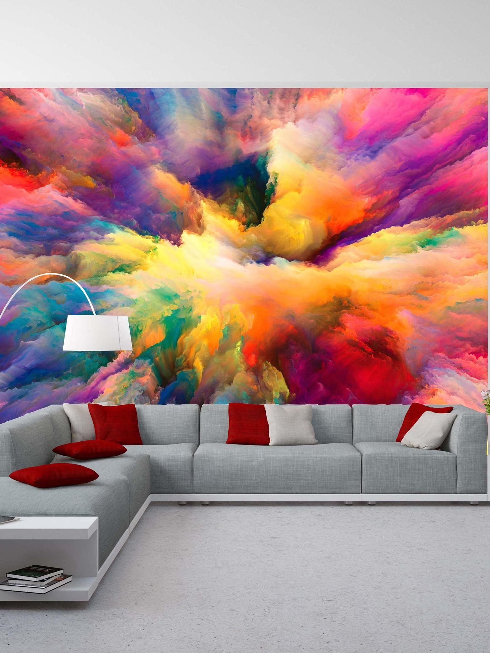 Removable Wallpaper Mural Peel & Stick Color Explosion