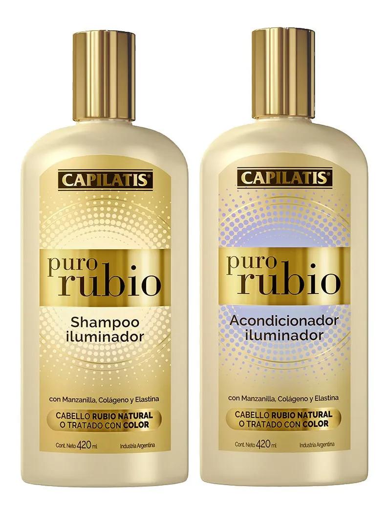 Combo Capilatis Puro Rubio Iluminador Shampoo Acondicionador 870 00 Acondicionador Champu Hidratar El Cabello