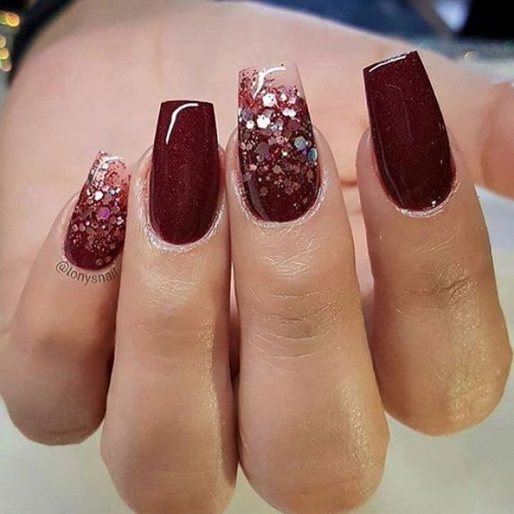 39 Trendy Fall Nails Art Designs Ideas To Look Autumnal and Charming - autumn nail art ideas , fall nail art, fall art designs, autumn nail colors, autumn nail ideas, dark nail designs, coffin nails #autumnnails #fallnails #nailideas #autumnnails