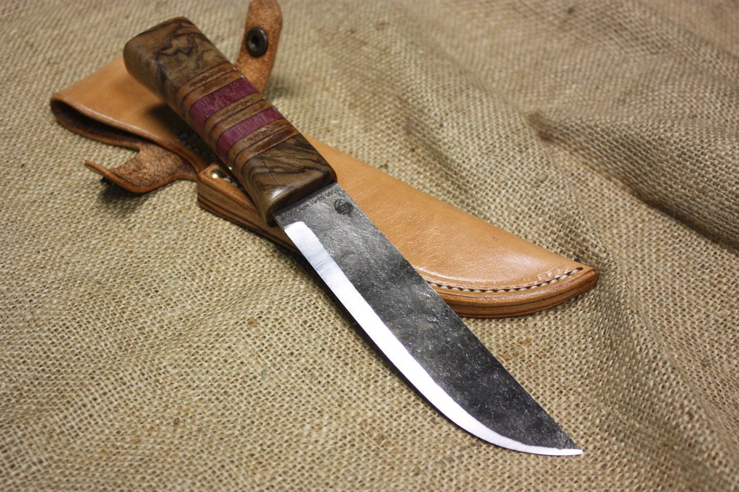 A Personal Favorite From My Etsy Shop Https Www Etsy Com Listing 226607740 Fixed Blade Hunting Knife With Engl With Images Hunting Knife Knife Fixed Blade Hunting Knives