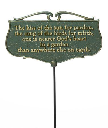 Kiss Of The Sun Garden Plaque Sun Garden Garden Signs Garden