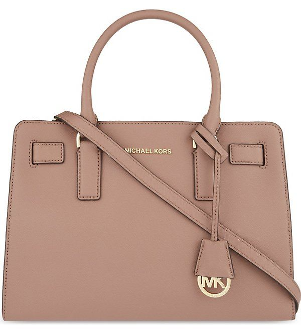 07f7c80f0f2a63 MICHAEL KORS Dillon medium saffiano leather satchel (Dusty rose 285 ...