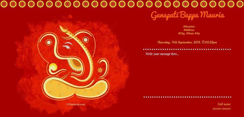 Discover Ideas About Ganpati Invitation Card