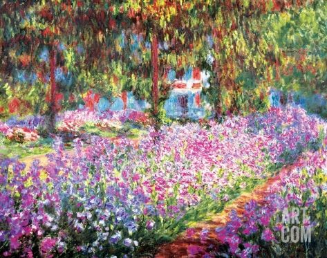 The Artist S Garden At Giverny C 1900 Art Print By Claude Monet