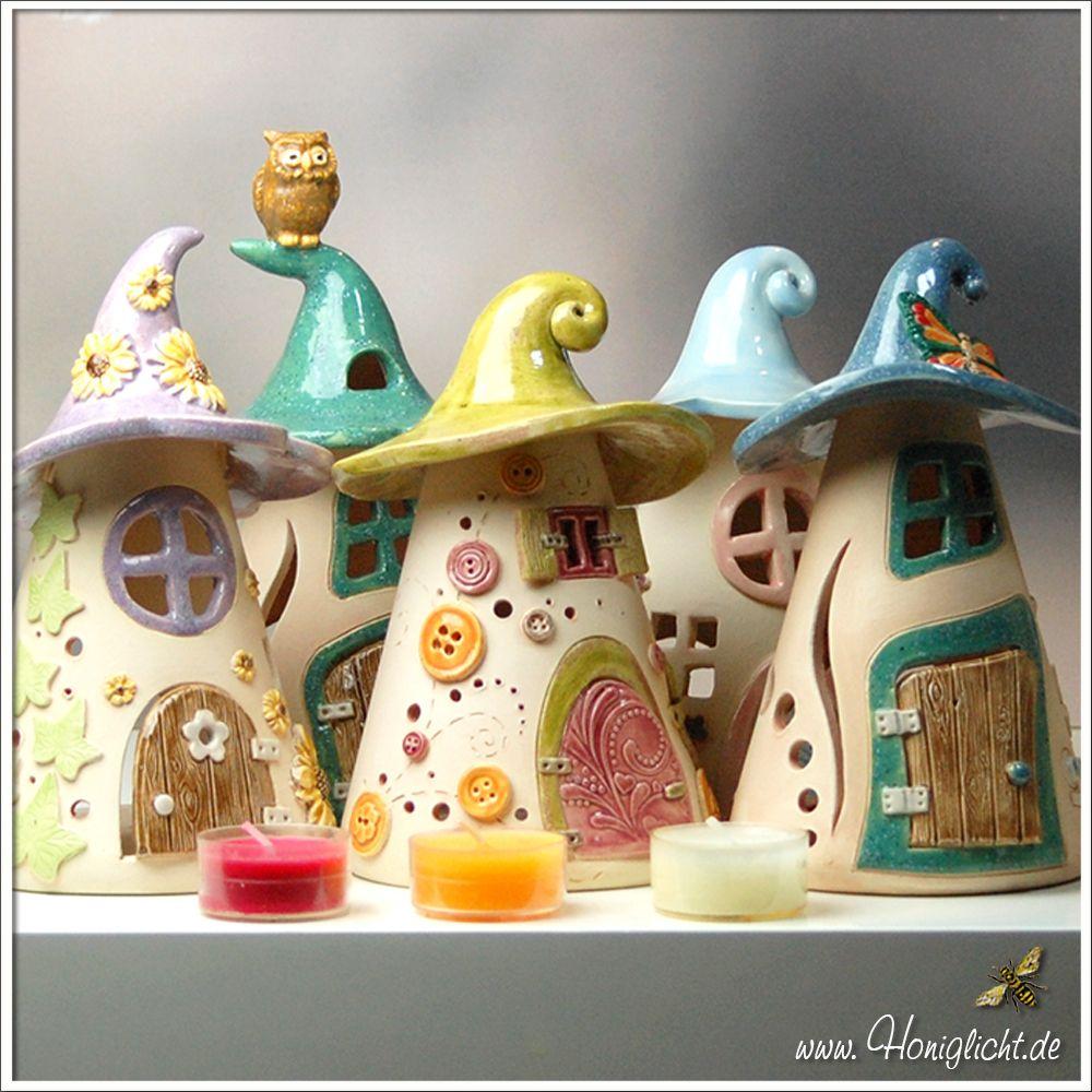 Elfenh uschen honiglicht keramik - Ideen mit knetbeton ...