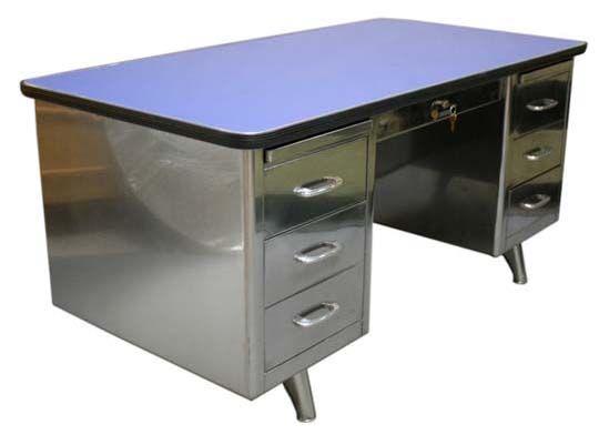 The Best Desks For Small Spaces Tanker Desk Metal Desk Makeover Desk