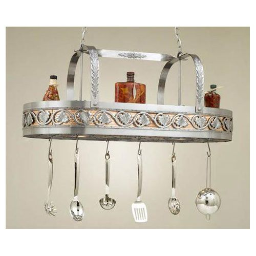 Leaf Collection Lighted Pot Rack  With the tus.
