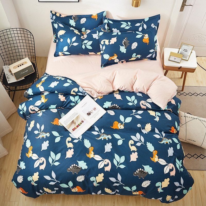 Oloey Geometric Plaid Bedding Set Duvet Cover Flower Sheet Bed King Queen Size Bed Set Gray Cute Bedding Quilt Cover Simply Queen Size Bed Sets Plaid Bedding Sets Bed Linen Sets