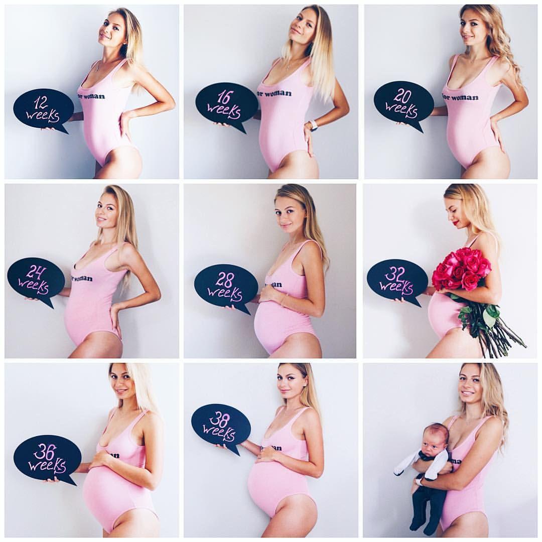 Картинки беременность по месяцам, ада карандашом