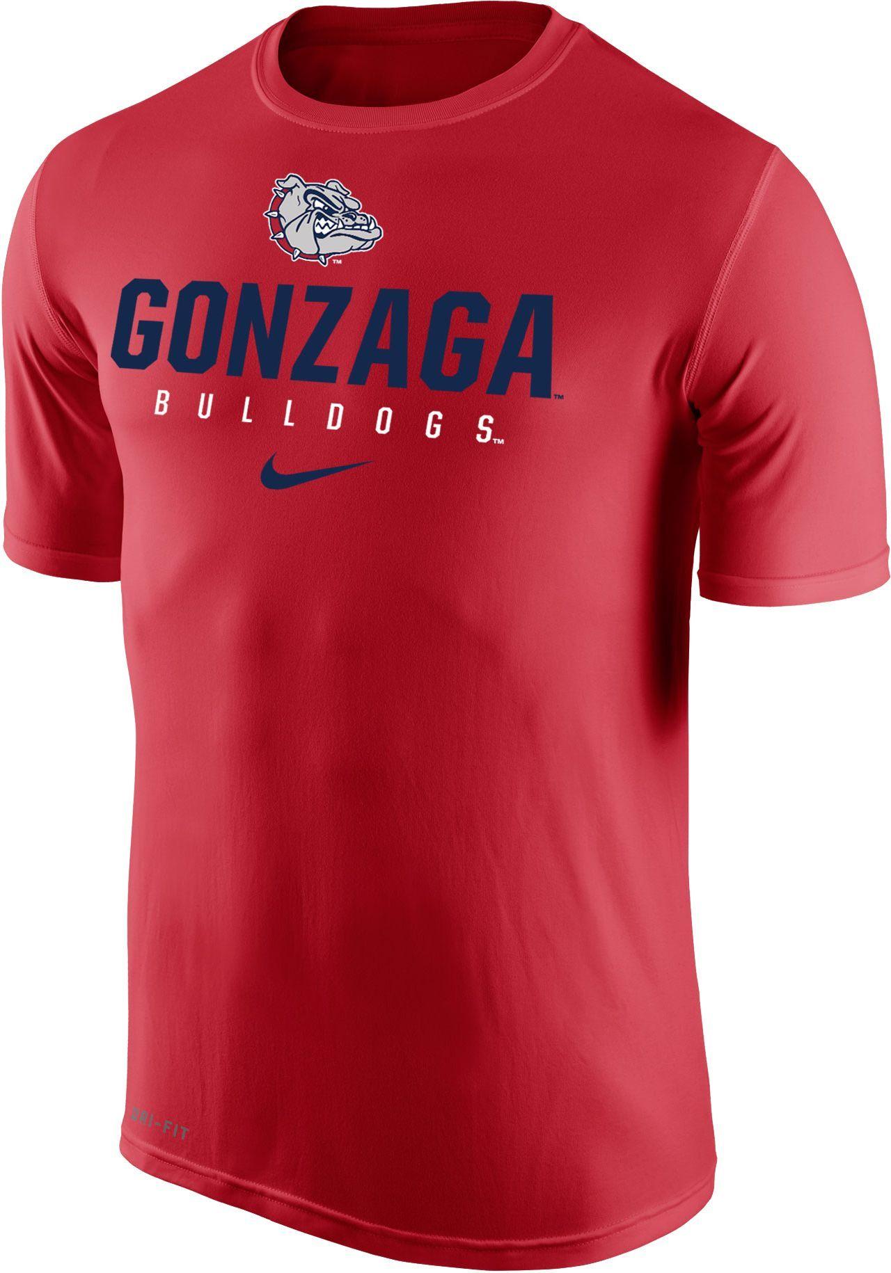 d655e209 Nike Men's Gonzaga Bulldogs Red Dri-FIT Legend 2.0 T-Shirt in 2019 ...