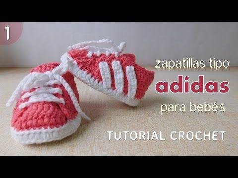 e15de7c6d Download video  Zapatillas Adidas a crochet para bebé (Parte 1 de 2 ...