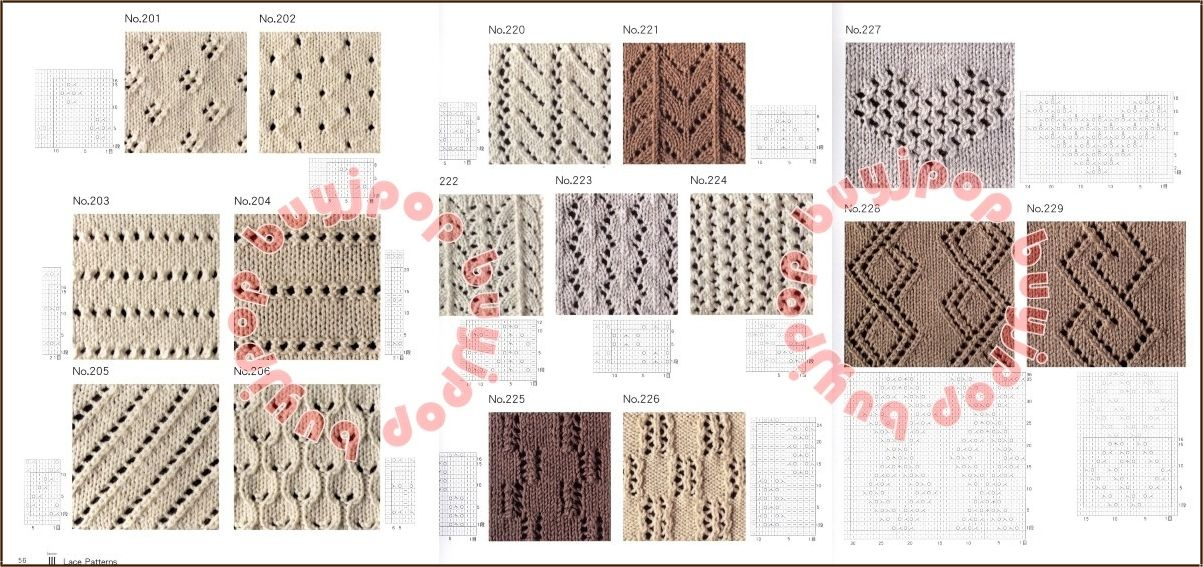 Japanese Knit Craft Pattern Book 500 Knitting Style By Chie Kose
