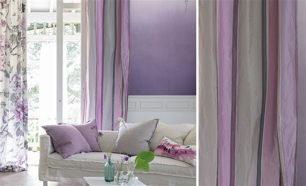 d coration int rieure salon living room couleur color violet mauve lilas lavande blanc. Black Bedroom Furniture Sets. Home Design Ideas