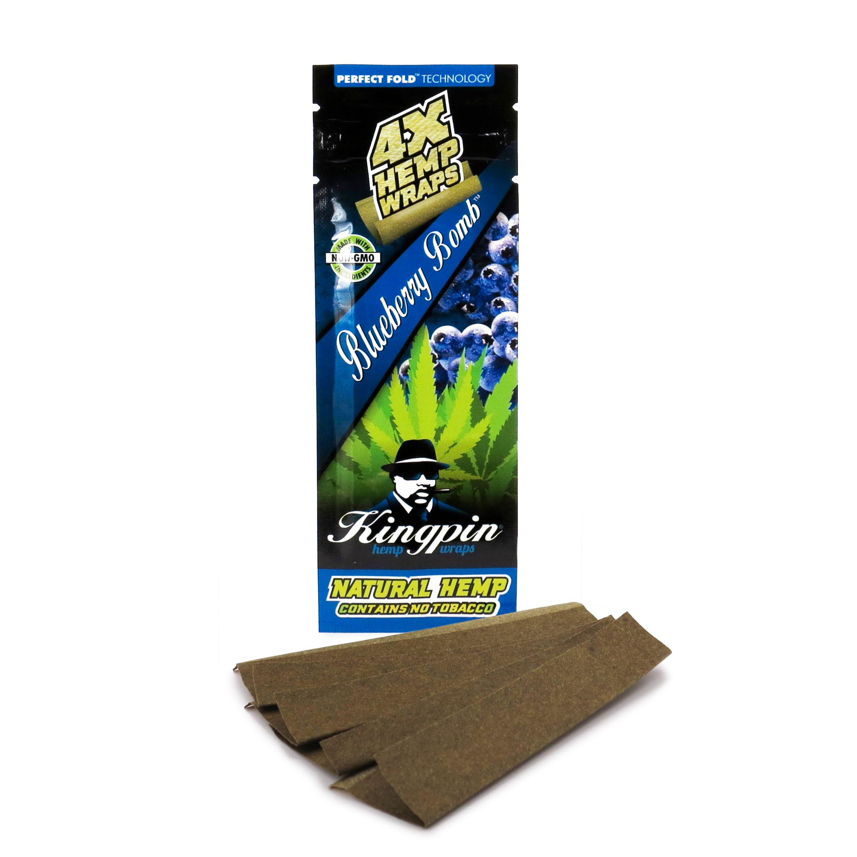 Cigar Rolling Machine Kingpin Grape Hemp Wraps No Tobacco Natural 25 Pack