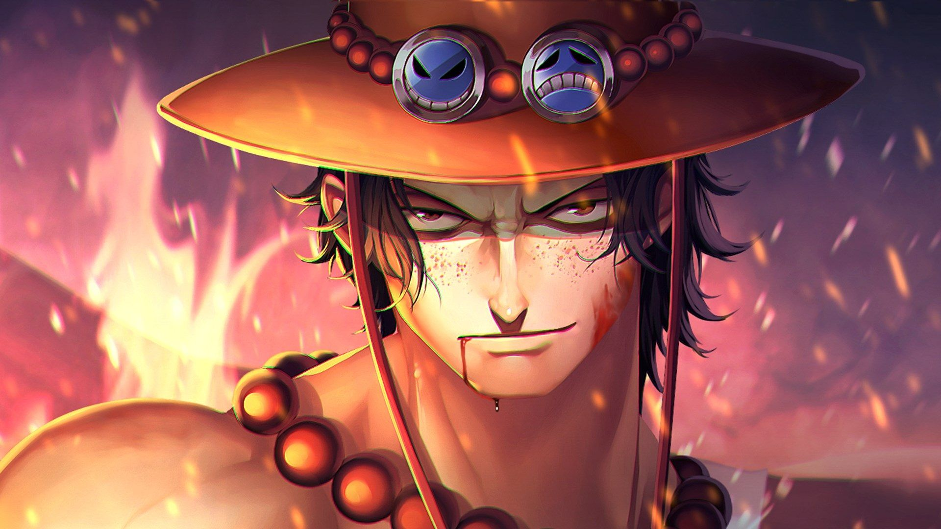 1920x1080 Anime Wallpaper Pc Full Hd Ace One Piece One Piece Anime Portgas D Ace
