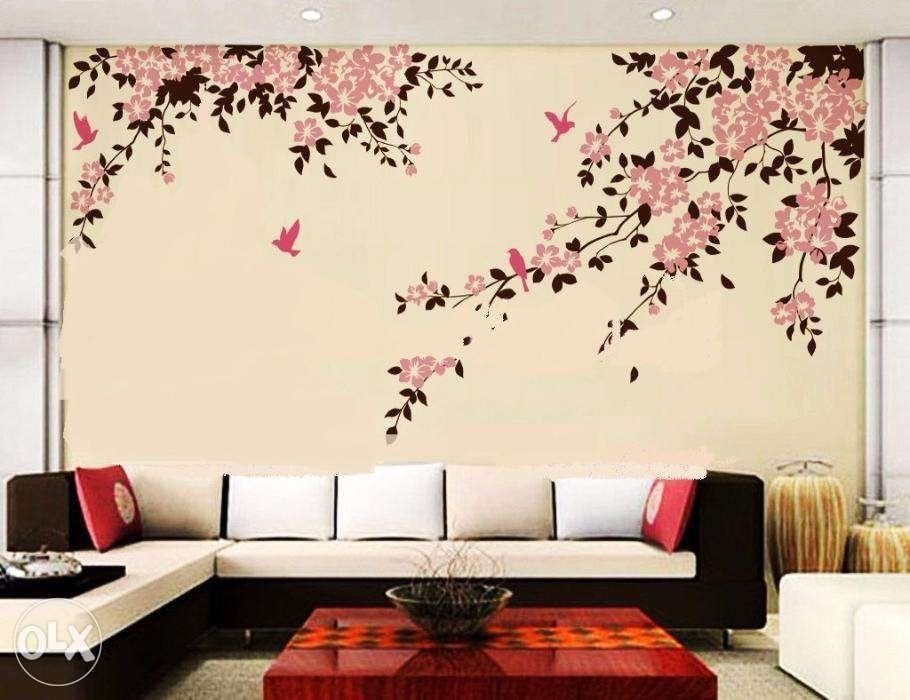 Living Room Wall Painting Designs 49 Home Decor Ideas Interior Design Wall Galleries Wall Paint Designs Home Wall Painting Simple Wall Paintings