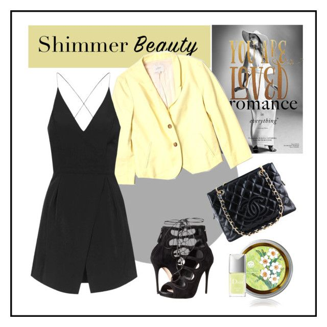 """""""Shimmer Yellow"""" by ul-inn ❤ liked on Polyvore featuring LOFT, Topshop, Alexander McQueen, Chanel and Christian Dior"""