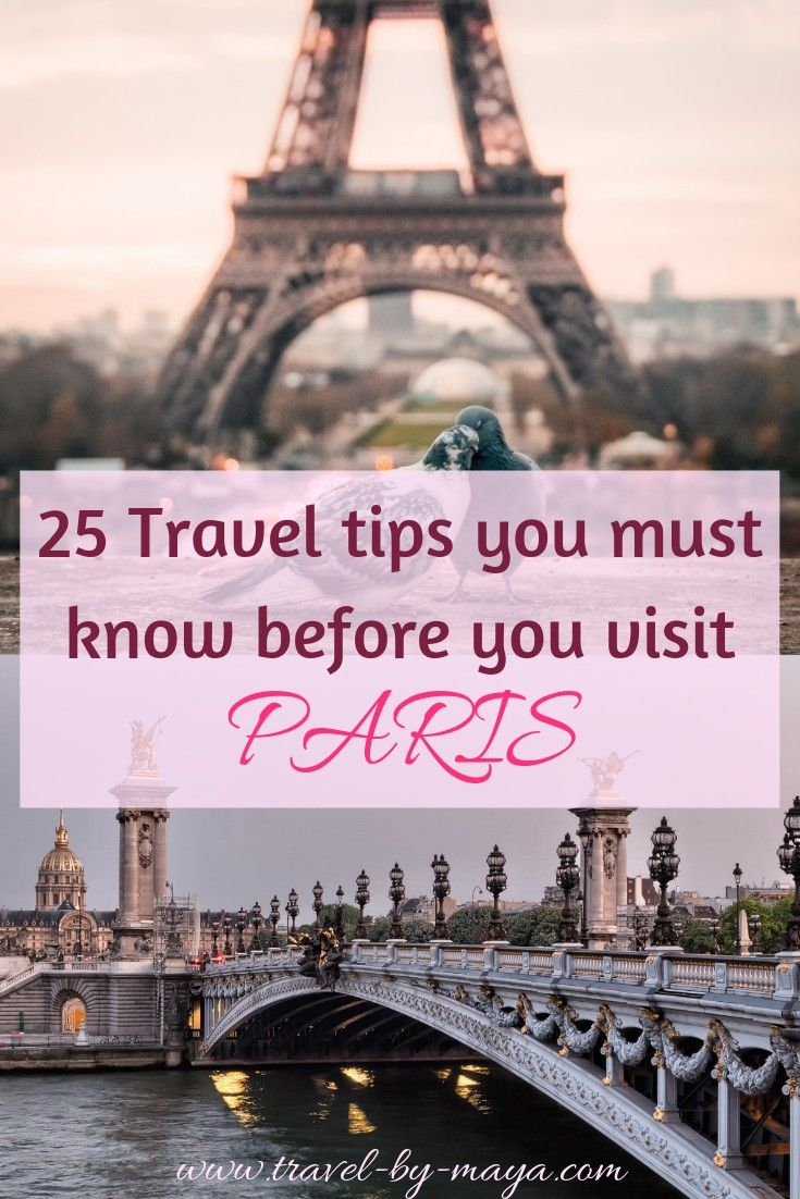 25 Travel tips to know before visiting PARIS