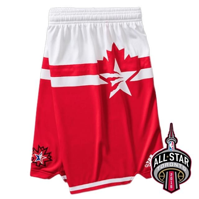 2016 Toronto All-Star Western Conference Red Shorts New - $19.88 ...