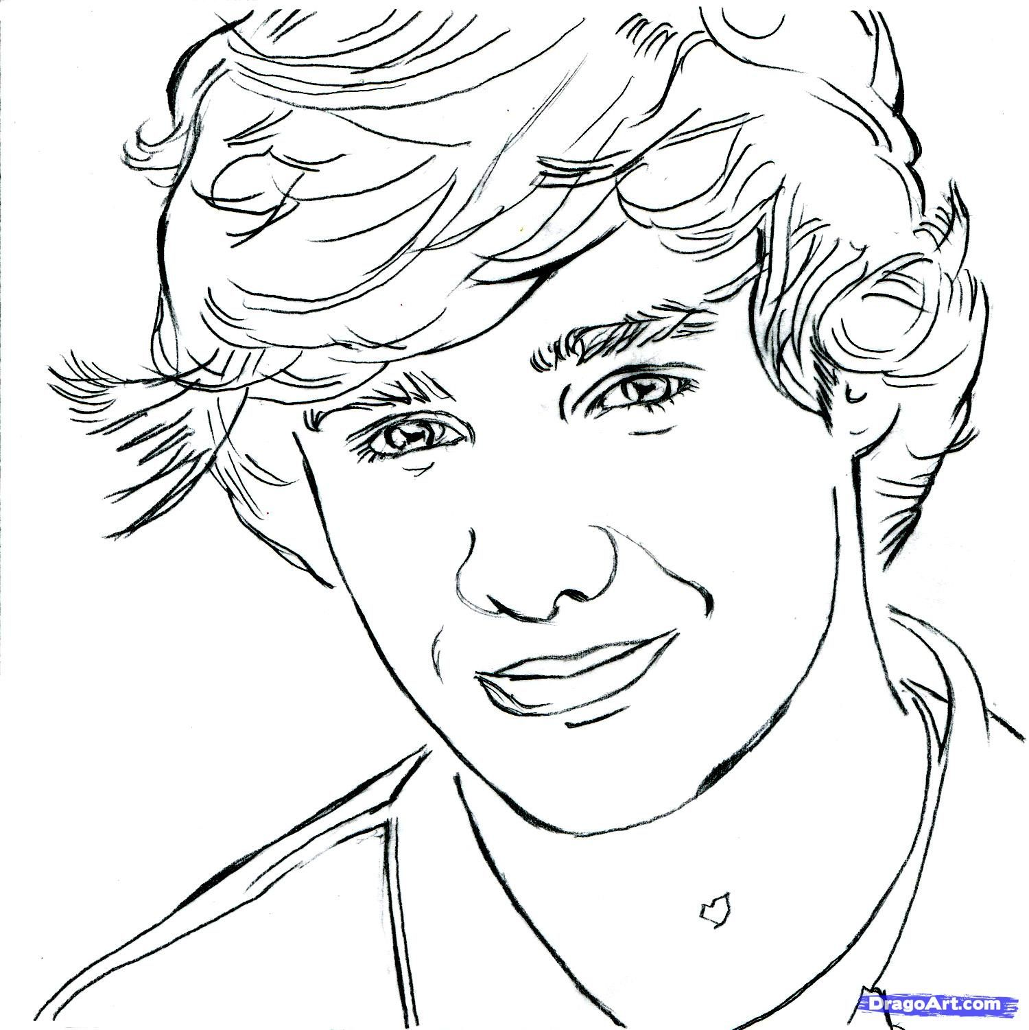 Coloring pages for one direction - One Direction Drawings