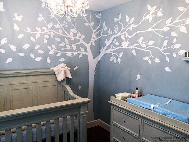 Nursery Wandtattoo Baum Aufkleber Foto Aufkleber