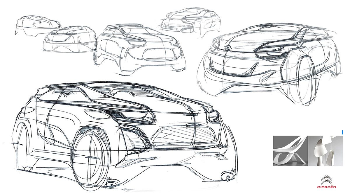 Citroen Mini Suv Concept Sketch On Behance Transportation Design