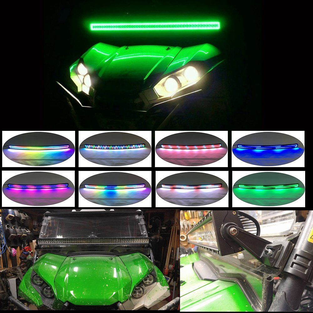 Nicoko 42 Inch 240w Straight Led Light Bar With Chasing Rgb Halo Wiring Lights Ring For 10 Solid Color Changing Strobe Flashing Spot Flood Combo Beam Ip67 Waterproof