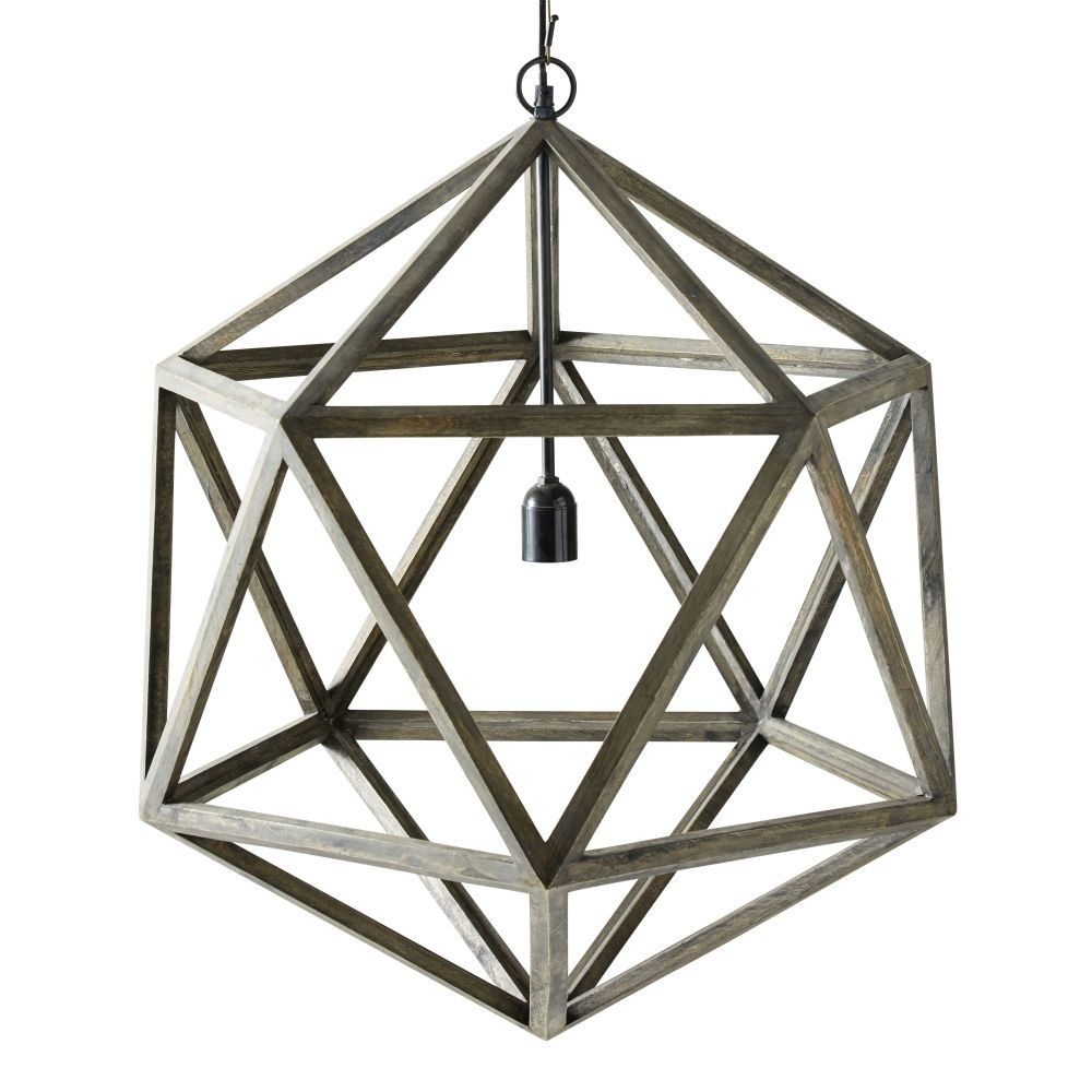Lampara De Techo Geometrica De Mango Lampes Suspendues Industrielles Suspension 3 Lampes Toile Lumineuse