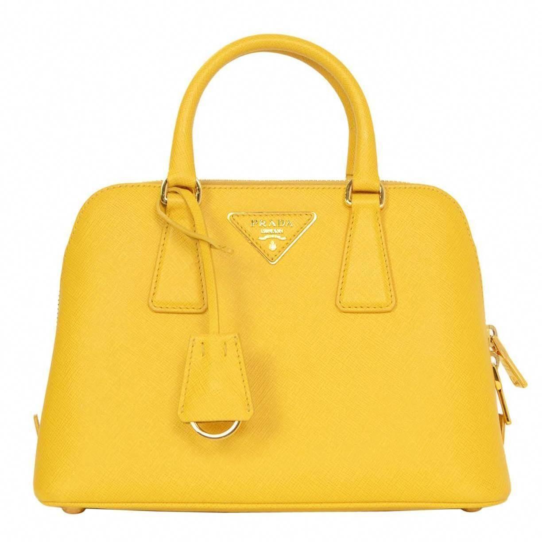 019fc16ded9 Prada Yellow Mini Promenade Saffiano Bag with GHW and Dust bag ...