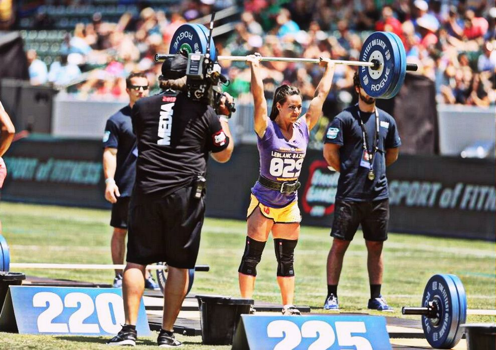 Saturday 2013 CrossFit Games Camille scores 220 lbs