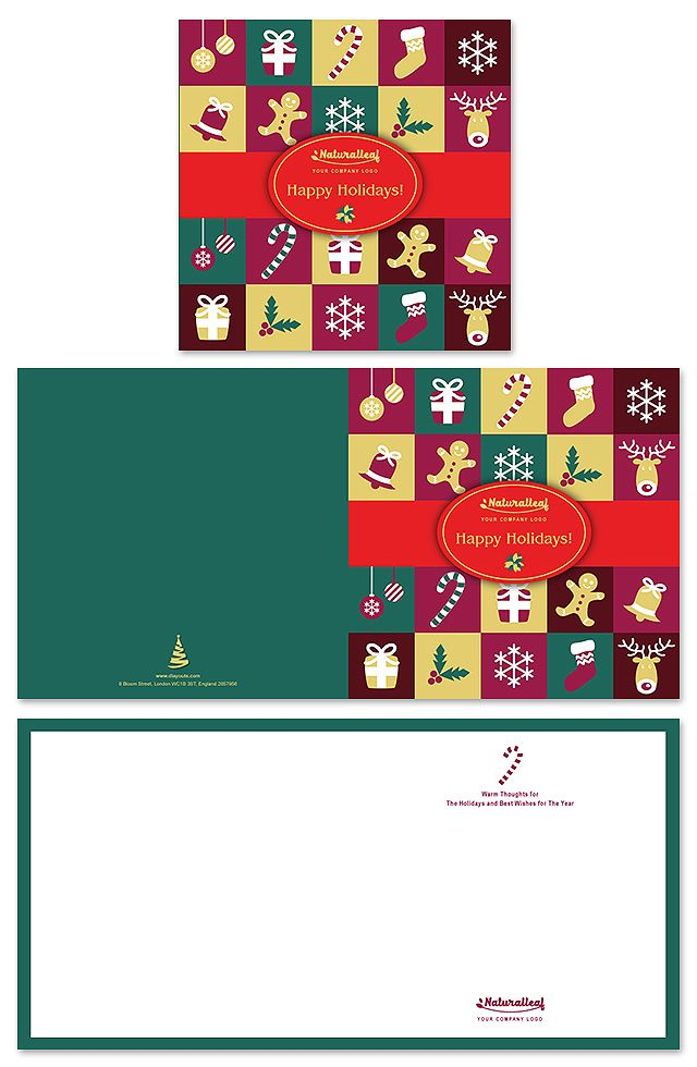 Happy Holidays Greeting Card Template Creative Brochure Templates - greeting card template