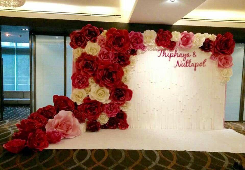 Paper Flowers Backdrop Wedding Giant Paper Flower Backdrop Paper Flower Backdrop Wedding Paper Flower Backdrop