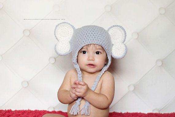 Elefant-Hut, Gehäkelte Elefant Elefanten Baby jungen Mütze, Foto ...