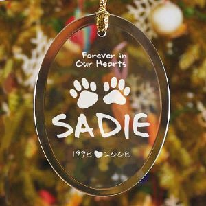 In Our Hearts Personalized Pet Memorial Ornament   Tis' the Season ...
