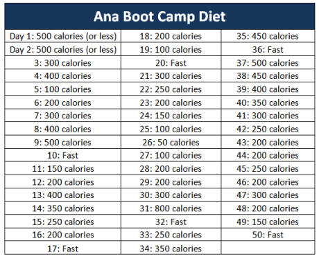 Abc Diet Plan Ana  Thinspiration    Abc Diet Weight