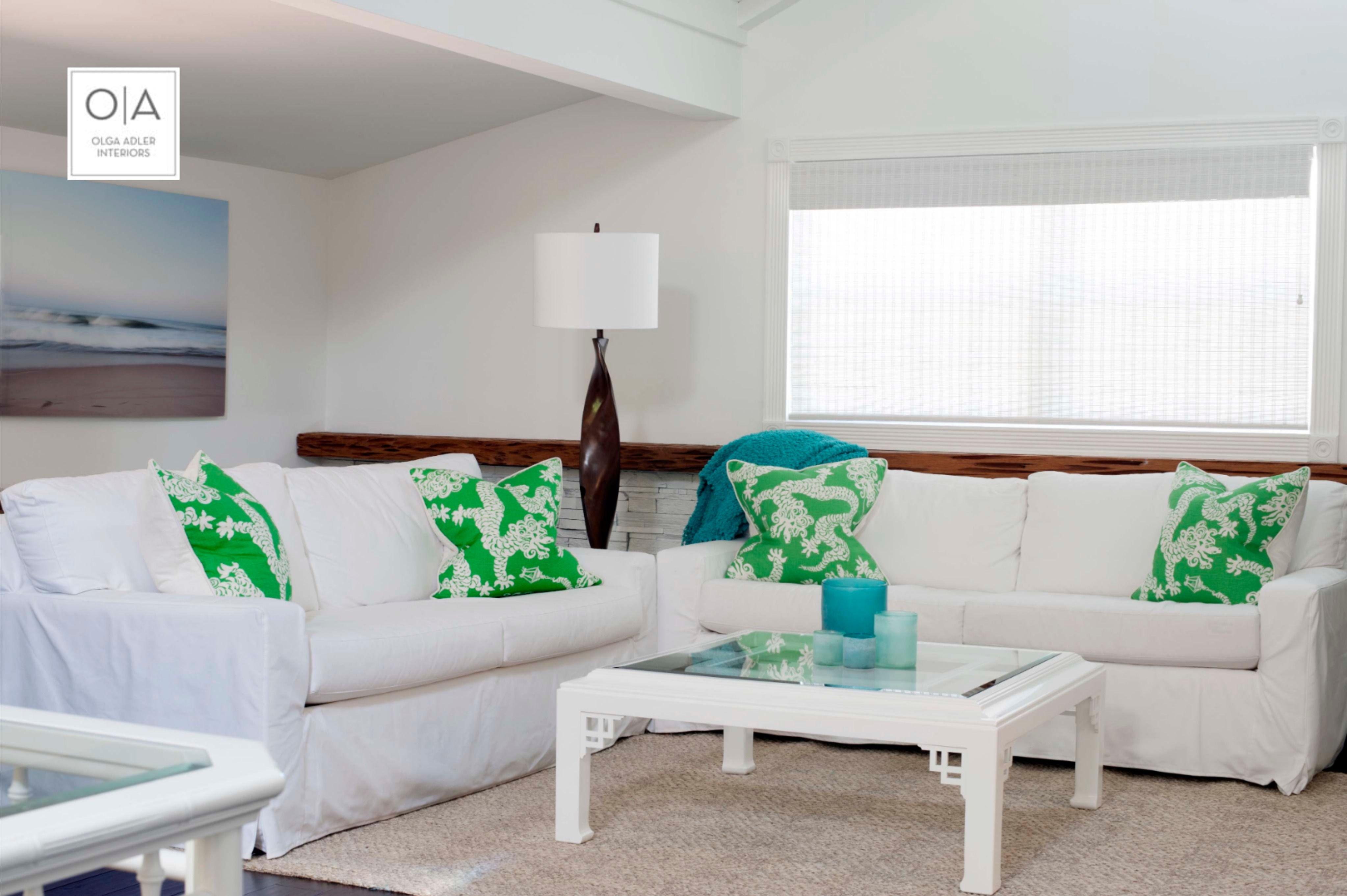 Delray Beach interior design - living room and home decoration created by interior designer, Olga Adler. #delraybeachinteriordesign #delraybeachinteriordesigner #floridainteriors #homedecor #delraybeach #florida