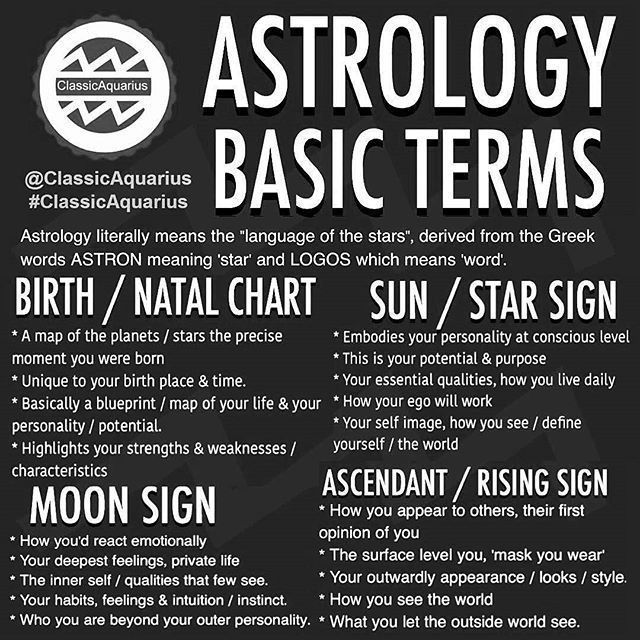 Astrology Basic Terms For Birth Or Natal Chart Star And Sun Sign