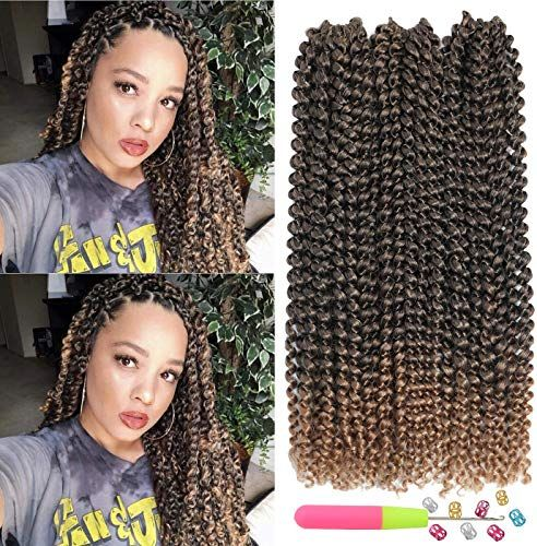 Best Seller Passion Twist Hair 6 packs 14 inch Water Wave Crochet Braiding Hair Long Bohemian Braids  Passion Twist Crochet Hair OmbreSynthetic Natural Hair Extensions Crochet Braids (T1B/27) online - Allprettytrendy #passiontwistshairstylelong