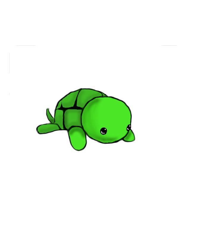 Super Cute Turtle Turtles Pinterest Cute Drawings
