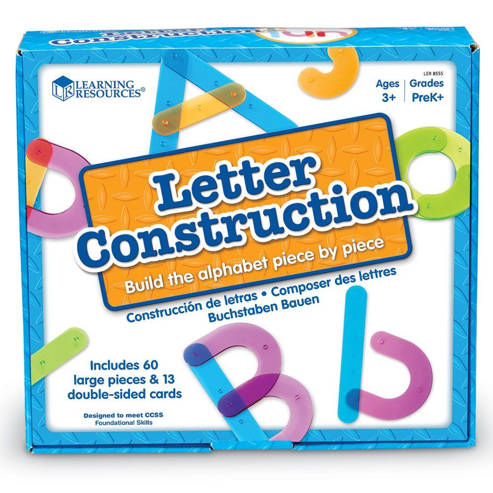 Learning Resources Letter Construction Activity Set   Nap bins ...