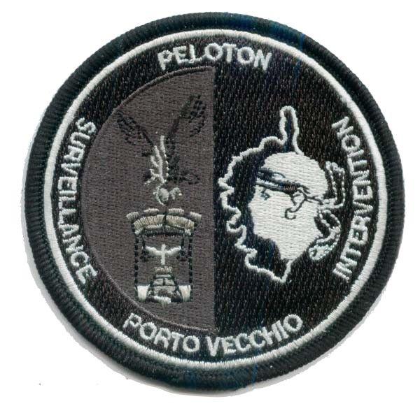 Ecusson Gendarmerie Peloton Surveillance Intervention Porto Vecchio Gendarmerie Francaise Ecusson Ecusson Brode