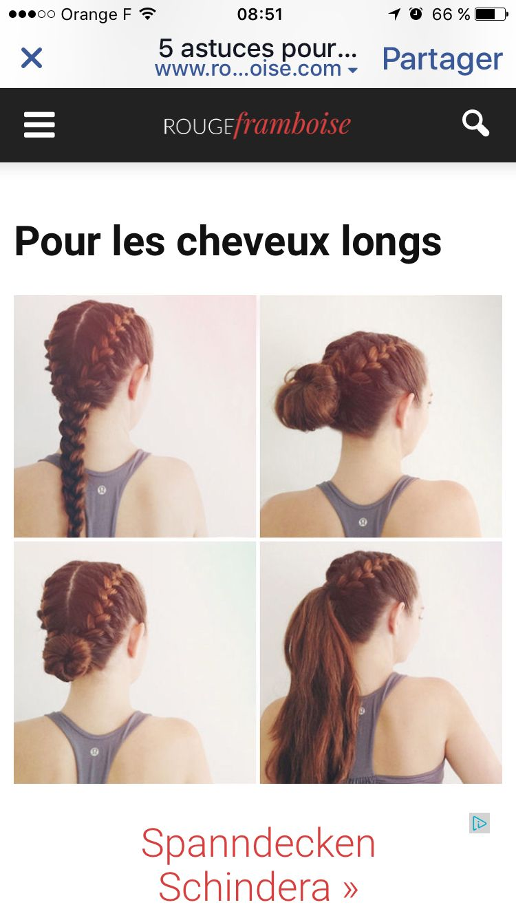 Tresses pour le sport things to wear pinterest hair style