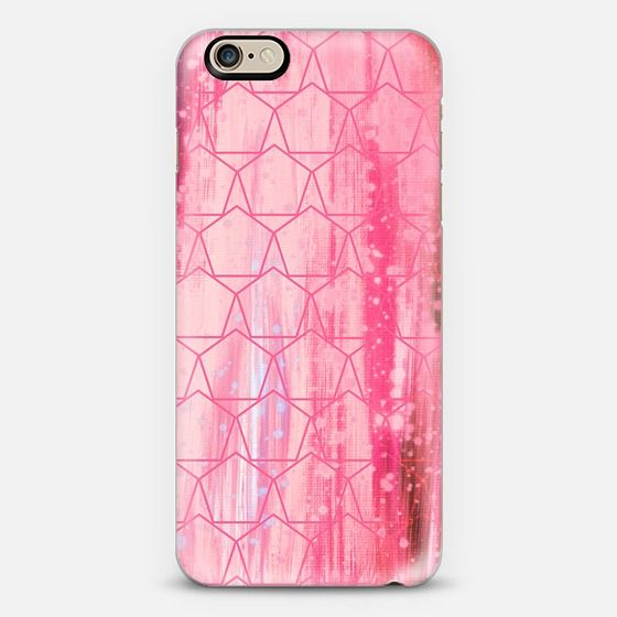 """""""I've Pentagon Crazy - Pink"""" by Artist Julia Di Sano, Ebi Emporium on @casetify  Fine Art Abstract Acrylic Painting Whimsical Fun Happy Bold Geometric Shapes Pattern Pastel Pink Pretty Magenta Stripes Clouds Sky Summer Design Colorful iPhone Samsung Tech Device Case #art #fineart #geometric #pattern #pink #pastelpink #magenta #happy #chic #modern #painting #techdevice #tech #iPhonecase #iPhone4 #iPhone5 #iPhone6 #chic #cellphone #cover #case Get $10 off using code: 5K7VFT"""