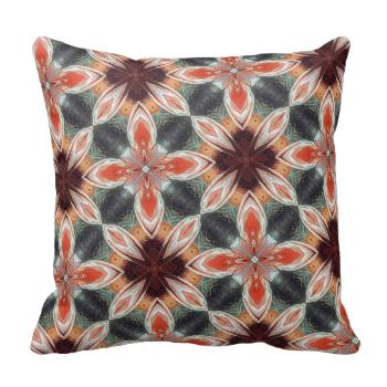 A multicolored flower like kaleidoscope pattern