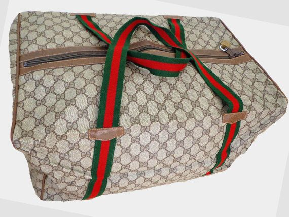 18 New Gucci Duffle Bag 18 Long New Vintage GUCCI by getloved ... 6a0eb693fabd