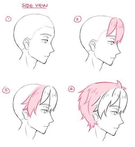 Drawing Anime Boy Tutorial 68 Ideas For 2019 Drawing Sketches Drawings How To Draw Hair