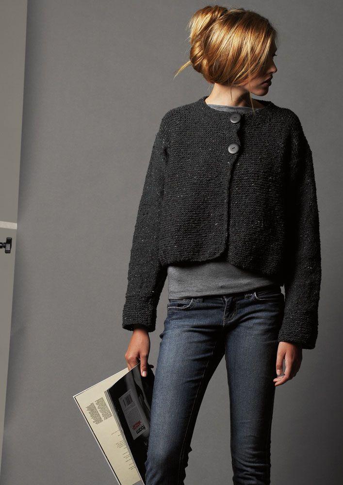 Garter Stitch Jacket PDF | Stitch, Free pattern and Knitting patterns