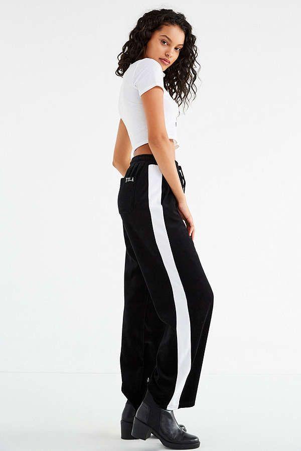 017d7d251736 Slide View: 1: FILA Bonnie Wide-Leg Velour Pant | Fashion Finds ...